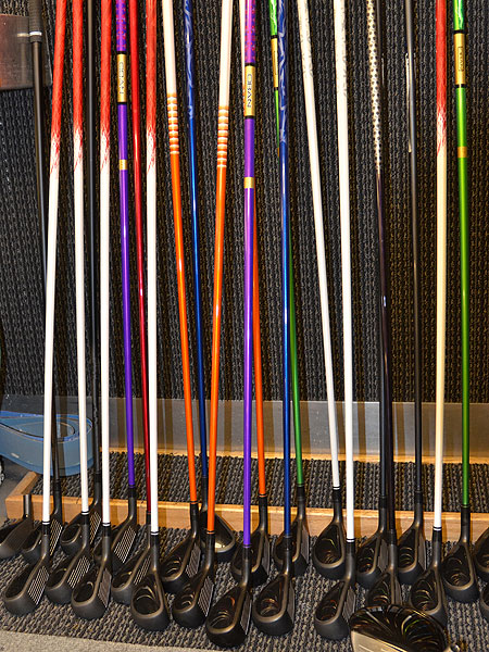 Pros who visited the Adams Golf tour van Monday were greeted by a wall of hybrids attached to a wide variety of colorful shafts.