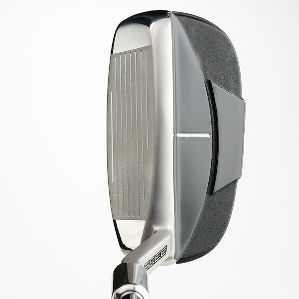 "Adams Idea a30S Chipper                       $89, steel; adamsgolf.com                                              Tim Reed, VP of R&D:""Our                       goal with this is simply to make                       it easier to get the ball on the                       green and consistently closer                       to the hole. It's about adding                       a versatile club to your bag that you can                       rely on every time you play.""                                              How it works: Obviously, this isn't your                       classic wedge. We suggest you stroke it                       like a putter to tackle an array of greenside                       shots. The hybrid-like head has a broad                       cambered sole to help it glide across the                       ground with little disturbance. The club comes                       in a single loft (37°, similar to an 8-iron). A                       bright white alignment aid, extra-long Winn                       grip (choke down without grabbing the                       steel shaft) and the firm's ""Boxer"" weighting                       technology add to its user-friendliness."