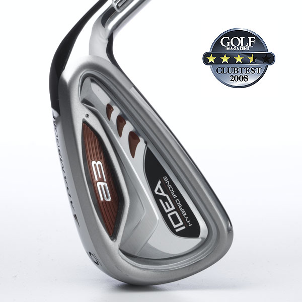 "Adams Idea a3                        $499, steel; $599, graphite                        adamsgolf.com                                              We tested: 3-5 in Grafalloy ProLaunch Red graphite shaft; 6-PW in True Temper Players Lite steel shaft. Shaft Length/loft (6-iron): 37.875""/29°                                               Company line: ""Our hybrid iron set has breakthrough shaping and category-leading MOI, as much as 70 percent higher than other leading hybrids. The set transitions to hollow-back middle irons and cavity-back short irons.""                                               Our Test Panel Says:                        PROS: Three different head designs provide a club to get you out of any kind of trouble; hybrids are clearly longer than standard long irons; innovative concept blends three head types into one set with relatively traditional-looking lines; small, rounded heads on short irons offer reliable control.                                               CONS: Strong feedback could be too much when you miss the sweet spot; steel-shafted irons don't always seem to match graphite hybrids; surprisingly, off-center hits with irons lose noticeable distance.                                               ""Plays well from trouble lies, scorches through rough."" — Eric English (13)                                              Rate and Review this club"