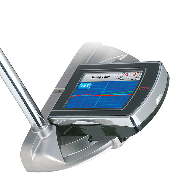 Adams Golf DiXX Blu putter                     adamsgolf.com, $399                     The Dixx Blu from Adams Golf doubles as a state-of-the-art analyzer and a USGA regulation putter. At address, it has a level finding line that turns red when the putter isn't properly balanced. A digital screen attaches to the top of the putterhead to give you real-time feedback on your stroke path, impact and angle of the clubhead. After you finish practicing, you can replace the screen with the playing terminal to take the putter on the course.