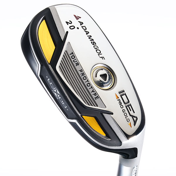 Six Hot New Hybrid Clubs                       A new batch of hybrids that promises high, straight shots.                                              Adams Idea Pro Gold                       $219, graphite                       adamsgolf.com                       Designed for lower handicappers, the                       club's Maraging steel face and overall                       weight placement combine for a hotter                       ball flight. Idea Pro Gold has a 5 percent                       higher MOI (2,550 g/cm2) for greater                       forgiveness, a 10 percent lower center                       of gravity, and less spin than the Idea                       Pro. The Gold comes with Mitsubishi                       Javln FX (higher trajectory) or Matrix                       OZIK (lower, boring flight) shafts.                                              • Rate and review this club now in the GOLF.com Equipment Finder