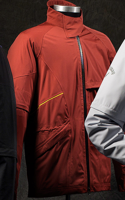 "Adidas ClimaProof Storm Soft Shell                       For extreme-weather golf enthusiasts, the 100 percent polyester jacket shelters you from wind, rain or snow. The soft, lightweight construction provides comfort without the usual ""swishy"" rain gear noise.                        $130; adidasgolf.com"