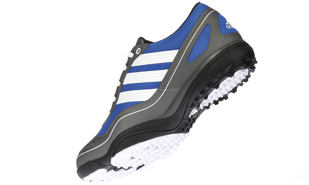 "Adidas Puremotion, $120                       adidasgolf.com | Buy on golf.com                       The Puremotion utilizes a ""barefoot"" shoe last that positions the feet closer to the ground. A wide, web-shaped forefoot provides space for the toes to spread out, for added stability during the swing. The waterproof mesh upper enables feet to breathe, while a minimal rise in the heel helps to align your spine."