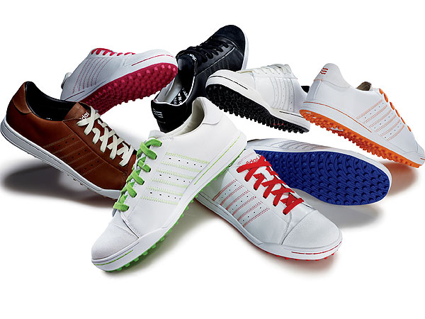 The trend toward comfortable, spikeless golf shoes with styling based on board-sport sneakers is sweeping the golf industry—and has reached the highest competitive levels, with golfers like Fred Couples, Vijay Singh and Justin Rose adopting them for big-time tournament play.                                          The Adidas AdiPURE STREET shoes were worn by Justin Rose to win the BMW Championship in very wet conditions. They come in multiple colors and will be available Nov. 1 for $90.