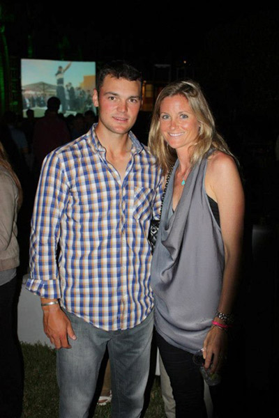 Adrienne Cass and former World No. 1 Martin Kaymer of Germany.