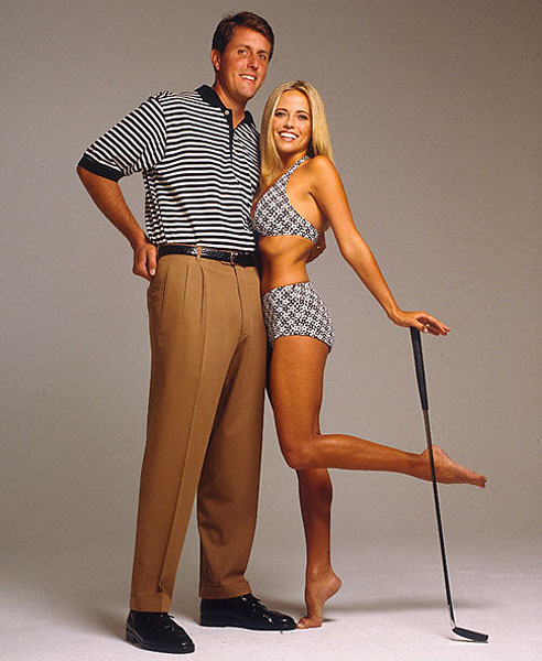 Phil and Amy Mickelson made an appearance in the 1998 Swimsuit Issue.