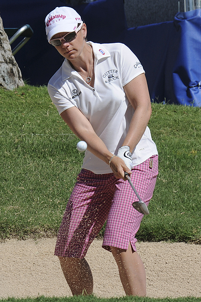 Annika Sorenstam, winner of last week's SBS Open at Turtle Bay, shot an opening-round 70.