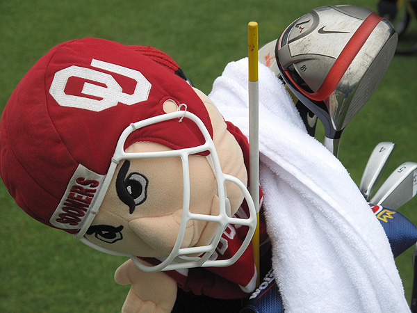 missed a significant part of the 2010 season due to injury, but he is back now and so is his beloved Oklahoma Sooner driver headcover.