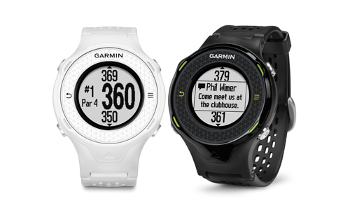 "Garmin Approach S4 Golf watch, $349.99; garmin.com                     The S4 comes preloaded with precise distances to the front, middle and back of the green at more than 30,000 international courses. Also included: ""Smart Notification"" technology, which enables the watch to wirelessly receive emails and text messages so your phone can be left in your bag."