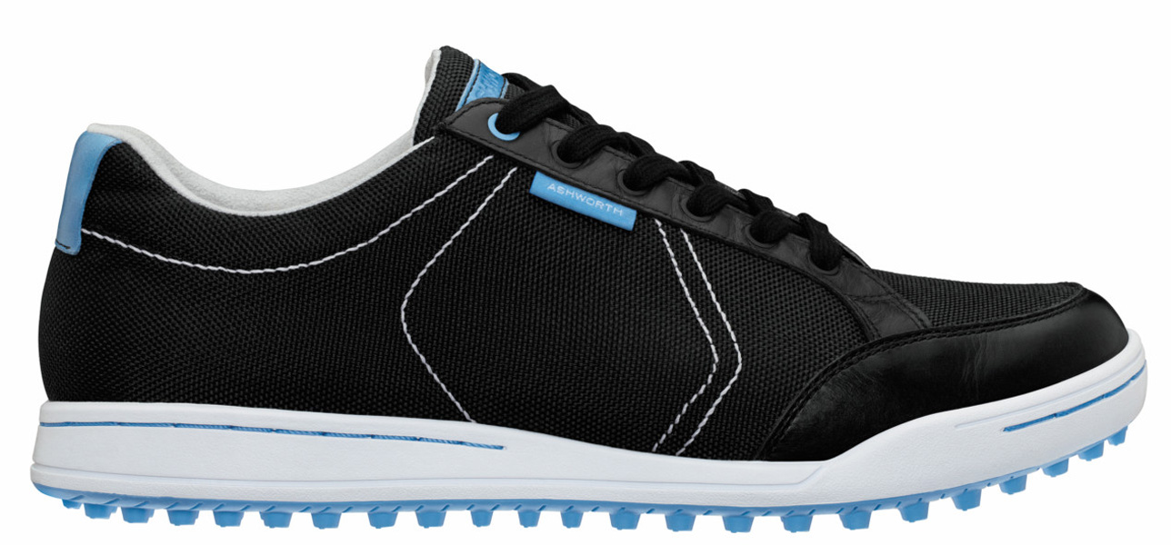 ASHWORTH CARDIFF MESH, $120; shop.Golf.com                       The latest member of the Cardiff family offers all of the amenities of the original in a lighter, more breathable package. Featuring a woven mesh upper and a spikeless outsole, the Cardiff Mesh is available in three colorways and is backed by a two-year waterproof warranty.
