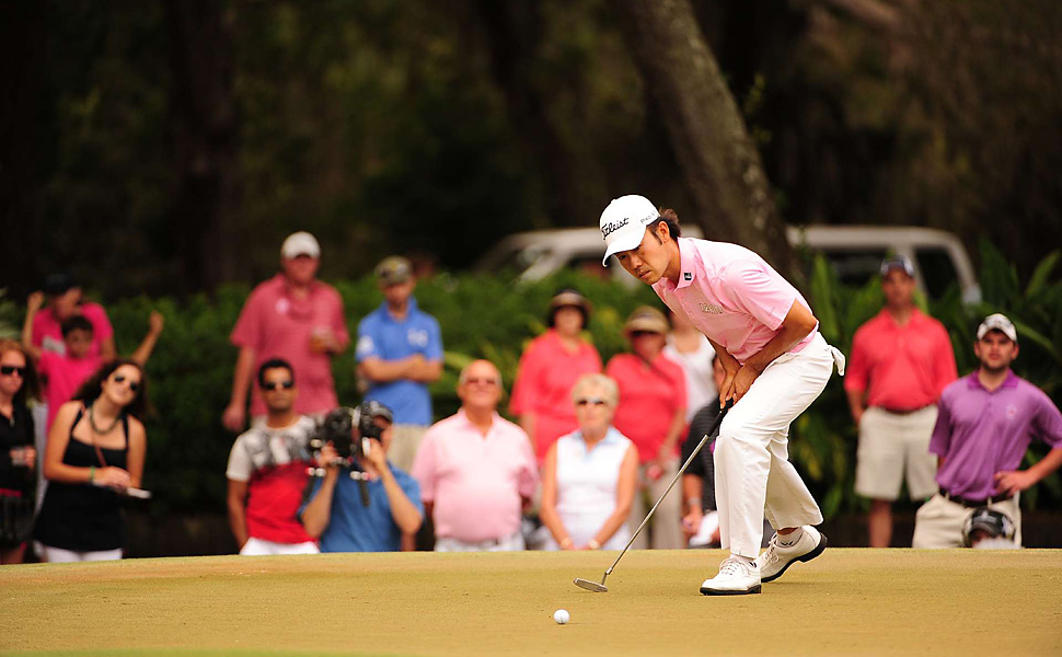 Kevin Na took a one-shot lead into the final round, but shot 76 to finished tied for seventh.