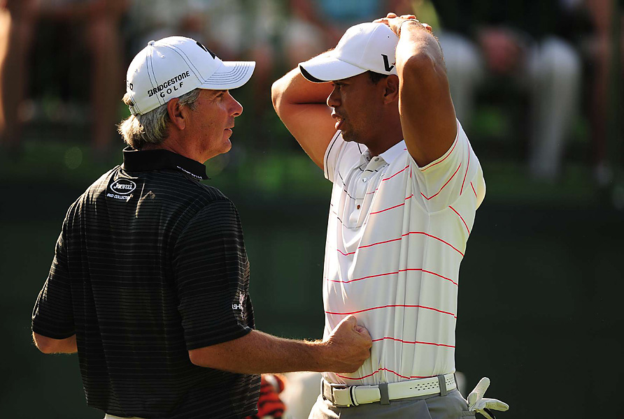 Woods and Fred Couples played together in the first two rounds.