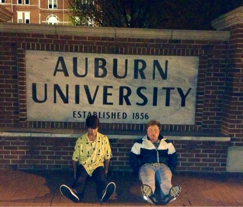 "Two Auburn students pay homage to Dufner by ""taking it back to his roots"" at Auburn University."