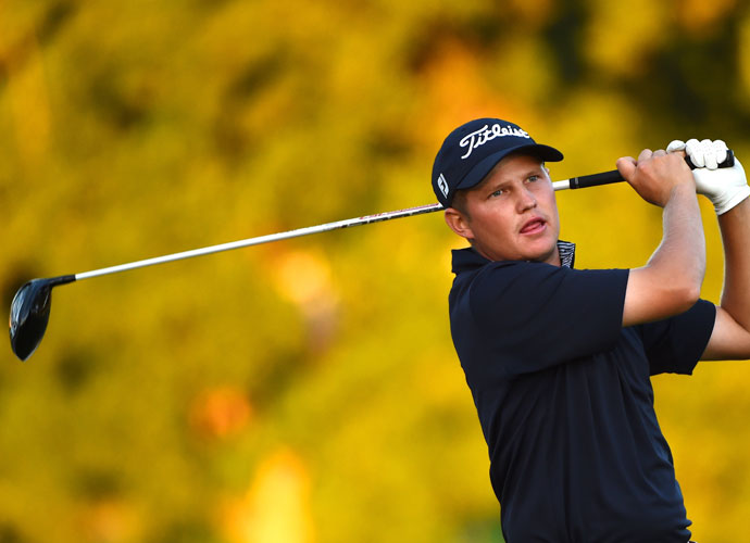 Zachary Blair, playing in his second PGA Tour event, played bogey-free golf on the way to his second-round 66. He was tied for second, a shot back at 9-under after the first two rounds.