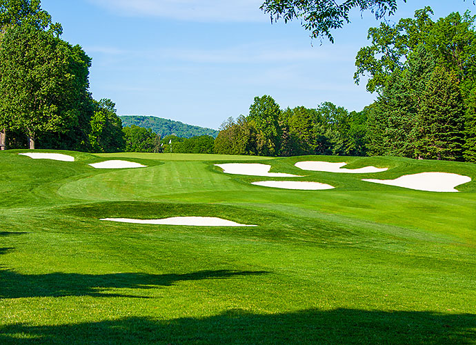 "29. Baltusrol Golf Club (Lower), Springfield, N.J., No. 17, par-5: Not until John Daly blasted a 1-iron here at the 1993 U.S. Open had this hole ever been reached in two. Since that time, the club has stretched the hole from 630 yards to 650. Even so, there has been plenty of sand-oriented drama over the years revolving around A.W Tillinghast's version of ""Hell's Half-Acre,"" which interrupts the fairway around the 400-yard mark."