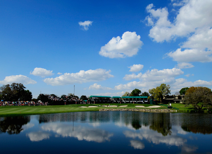 It was a beautiful day at Arnold Palmer's Bay Hill in Orlando, Fla, especially when enjoying the view of the 18th green from across the water.