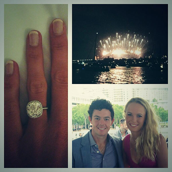"Rory McIlroy started his year off with fireworks as he proposed to tennis star Caroline Wozniacki.                                              ""Happy New Year everyone! I have a feeling it's going to be a great year!! My first victory of 2014. #Shesaidyes!!"" McIlroy tweeted. Wozniacki sent out a similar tweet that said, ""Happy New Year everyone! Rory and I started 2014 with a bang! ... I said YES!!!!"""