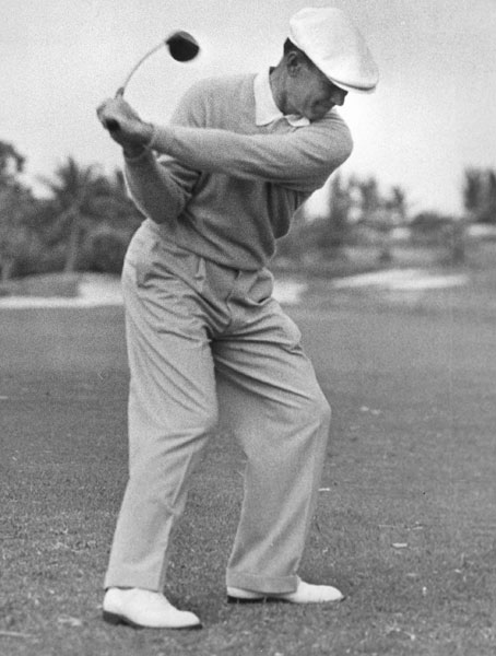 "The diminutive Hogan famously battled a hook and won long-drive contests before weakening his grip and becoming one of the all-time great players. ""He was a brilliant driver of the ball,"" said Top 100 teacher Rod Lidenberg. ""He was essentially a low-ball hitter who could shape the ball in either direction.  He was pound-for-pound the longest hitter of his era."""