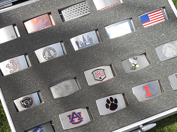 has been making quality putters for years, but the pros also love the belt buckles that he makes.
