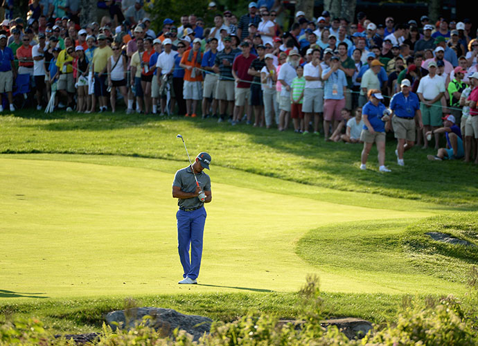 BEST IMPRESSION OF A 30-HANDICAP                     Billy Horschel at the Deutsche Bank Championship: Tour pros play a game with which we're not familiar -- until the pressure's on. Then they can look a lot like us. Witness Horschel's approach on the 18th hole on Sunday with the tournament on the line. Wielding a 6-iron from 198 yards, the 27-year-old mis-hit his shot so badly that -- forget the green -- he almost didn't reach the hazard. He lost his Titleist, and the title.