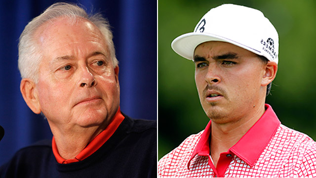 Admitting He's Sorry Bishop apologizes to Rickie Fowler for the way the PGA Championship ended after Rory McIlroy was allowed to hit an approach shot to the 18th while Fowler and Phil Mickelson were still playing the hole. Bishop and the PGA of America faced criticism for making the decision to rush play against fading daylight.