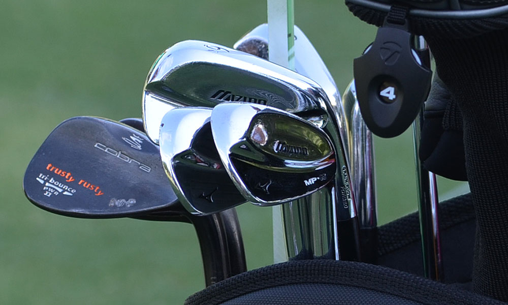 Bo Van Pelt uses Mizuno MP-69 irons and Cobra Trusty Rusty wedges.