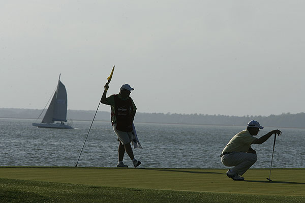 With sailboats drifting on the Calibogue Sound, Harbour Town Golf Links is a beautiful, challenging place to play.