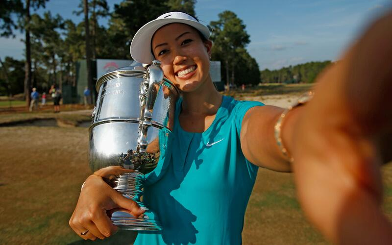 Michelle Wie broke through for her first major victory when she won the U.S. Women's Open at Pinehurst No. 2. This was her 11th appearance in the event and had only finished in the top-10 once.
