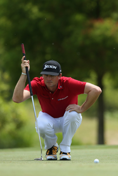 Keegan Bradley struggled on the greens on Sunday. Bradley trailed Noh by two strokes after 54 holes, but a triple bogey on the par-4 6th derailed his chances.