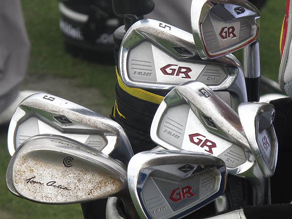 uses clubs made by Bridgestone's Japanese sister company, TourStage.