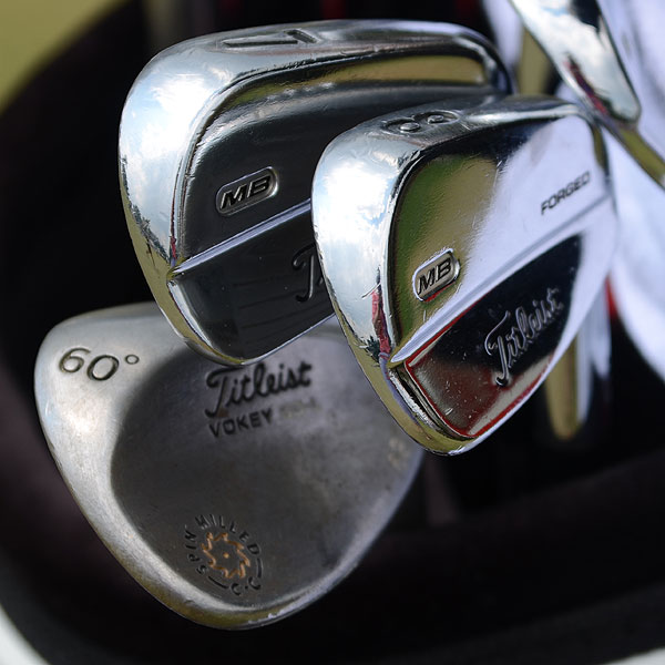 Brendan Steele plays Titleist's 710 MB irons and Vokey Design Spin Milled wedges.