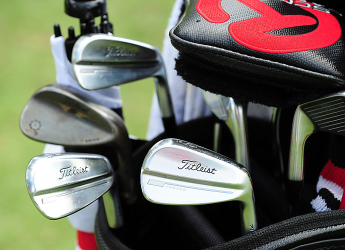 Brendan Steele swings Titleist MB Forged irons.