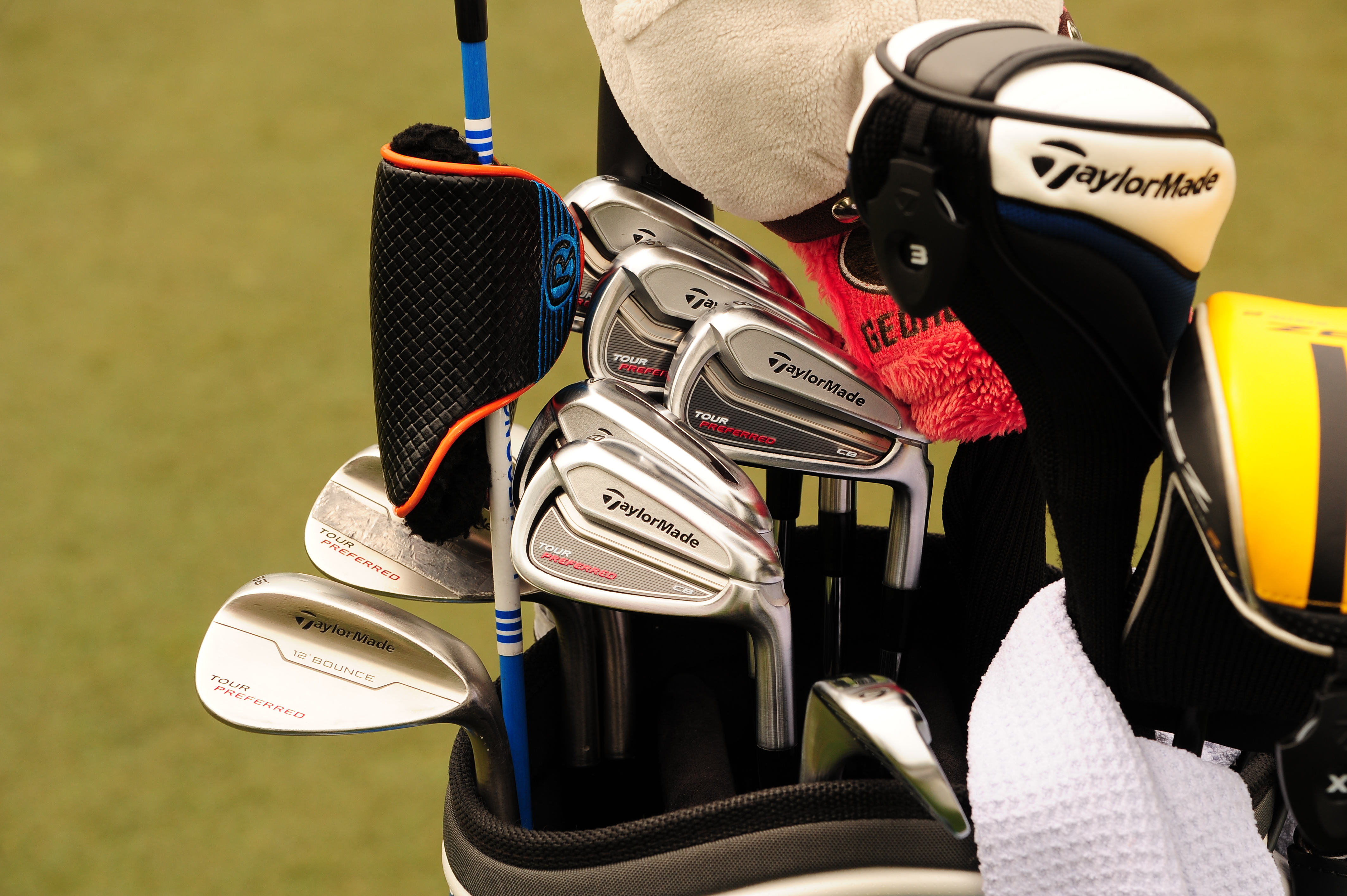 Brendon Todd has a bag full of TaylorMade sticks including Tour Preferred CB irons, Tour Preferred wedges and an SLDR fairway wood. It looks like he might have a Rife putter as well.