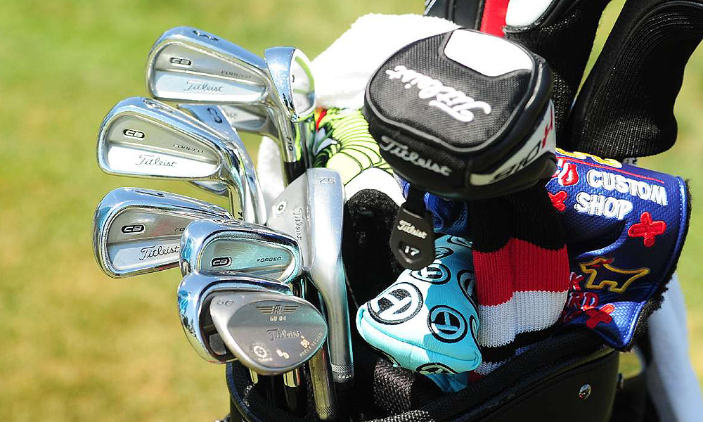 Brian Davis uses Titleist Forged 710 CB irons and Vokey Design Spin Milled wedges.