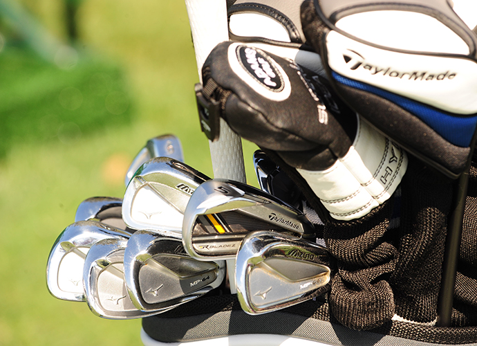 Brian Gay uses a TaylorMade RocketBladez 5-iron along with his Mizuno MP-64s.