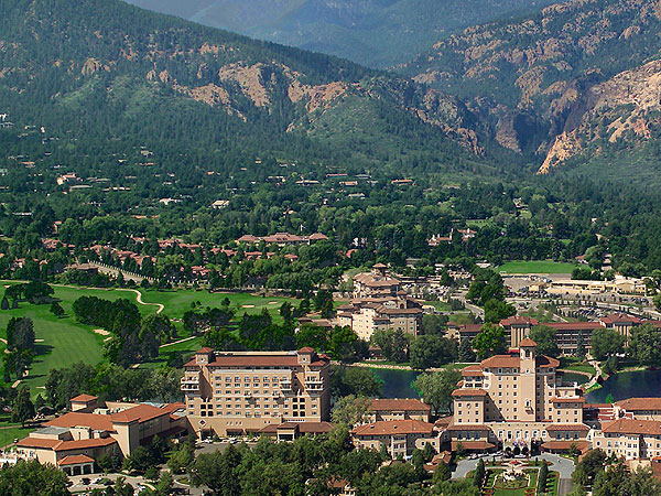 The Broadmoor                     Colorado Springs, Colo.                     866-837-9520, thebroadmoor.com                     The initiatives fostered here include a massive recycling program, water use restrictions and the conversion of 50 acres of turf grass to native grasslands and wildflower areas.