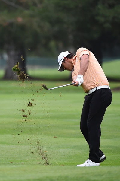 Through two rounds, Brooks Koepka is third in the field in driving distance at 313.6 yards. Jason Kokrak leads at 317.4. Koepka shot 2-under 70 Friday and is 6-under, four shots off the lead.