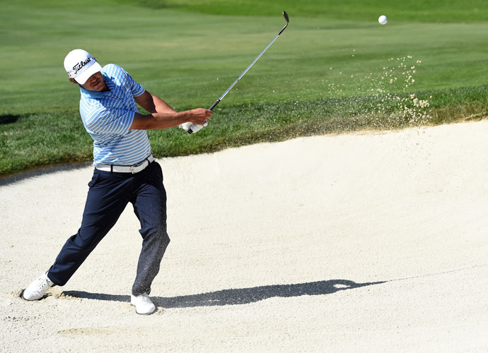Brooks Koepka birdied his final three holes of the afternoon to join Kuchar at 11 under.