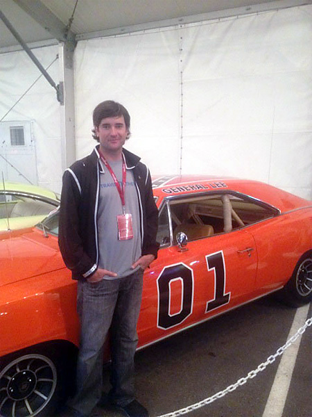 "In January 2012, Bubba Watson happily tweeted this photo and informed his followers that he'd successfully purchased the General Lee from ""Dukes of Hazzard"" at an auction for $110,000."