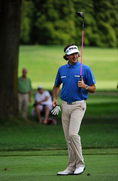4. 415 Yards - 2011 WGC-Bridgestone Invitational                      Bubba exceeds the 400-yard mark again on Aug. 7, 2011, in the WGC-Bridgestone at Firestone Country Club. He finishes tied for 21st.