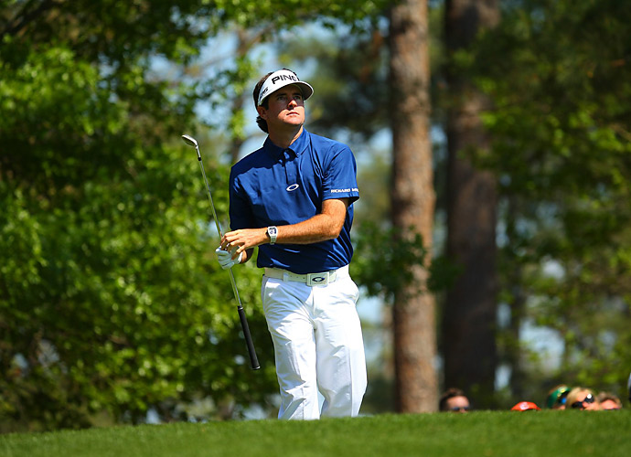 Leading by three to begin the day, Watson struggled for much of the round.