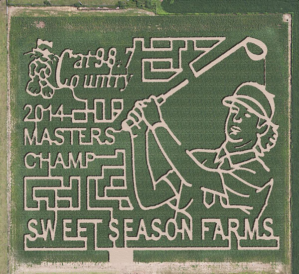@bubbawatson Ya it's photoshopped, but the real #BubbaMaze is coming soon @SweetSeasonFarm in my hometown! http://sweetseasonfarms.com