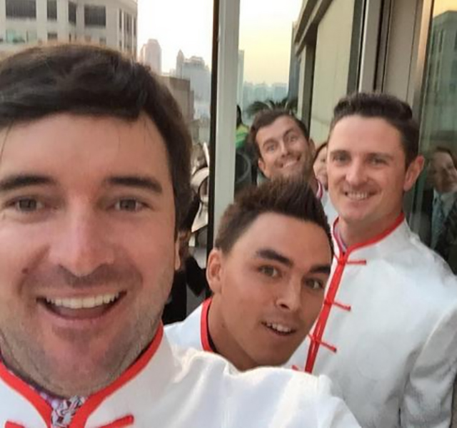 "Bubba's selfies were second to none. Bubba: ""Selfie with @RickieFowlerPGA @JustinRose99 & Adam Scott"""