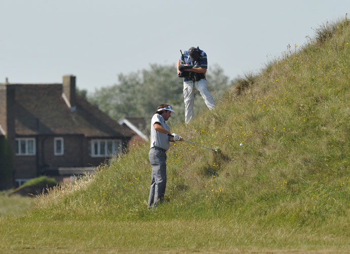 2011 Open Championship                      Bubba Watson escapes from the rough at Royal St. George's during the second day of the 2011 Open Championship. He finished tied for 30th in the major, his second-best finish at the Open.