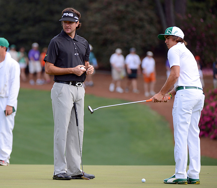 Defending champion Bubba Watson practiced alongside his good friend Rickie Fowler.