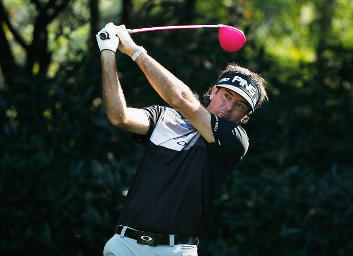 Bubba Watson went five under on the day to reach six under through two rounds.