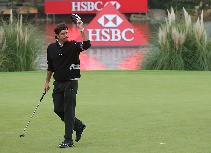Bubba Watson is tied with Kaymer at nine under after shooting a 69 on Saturday.