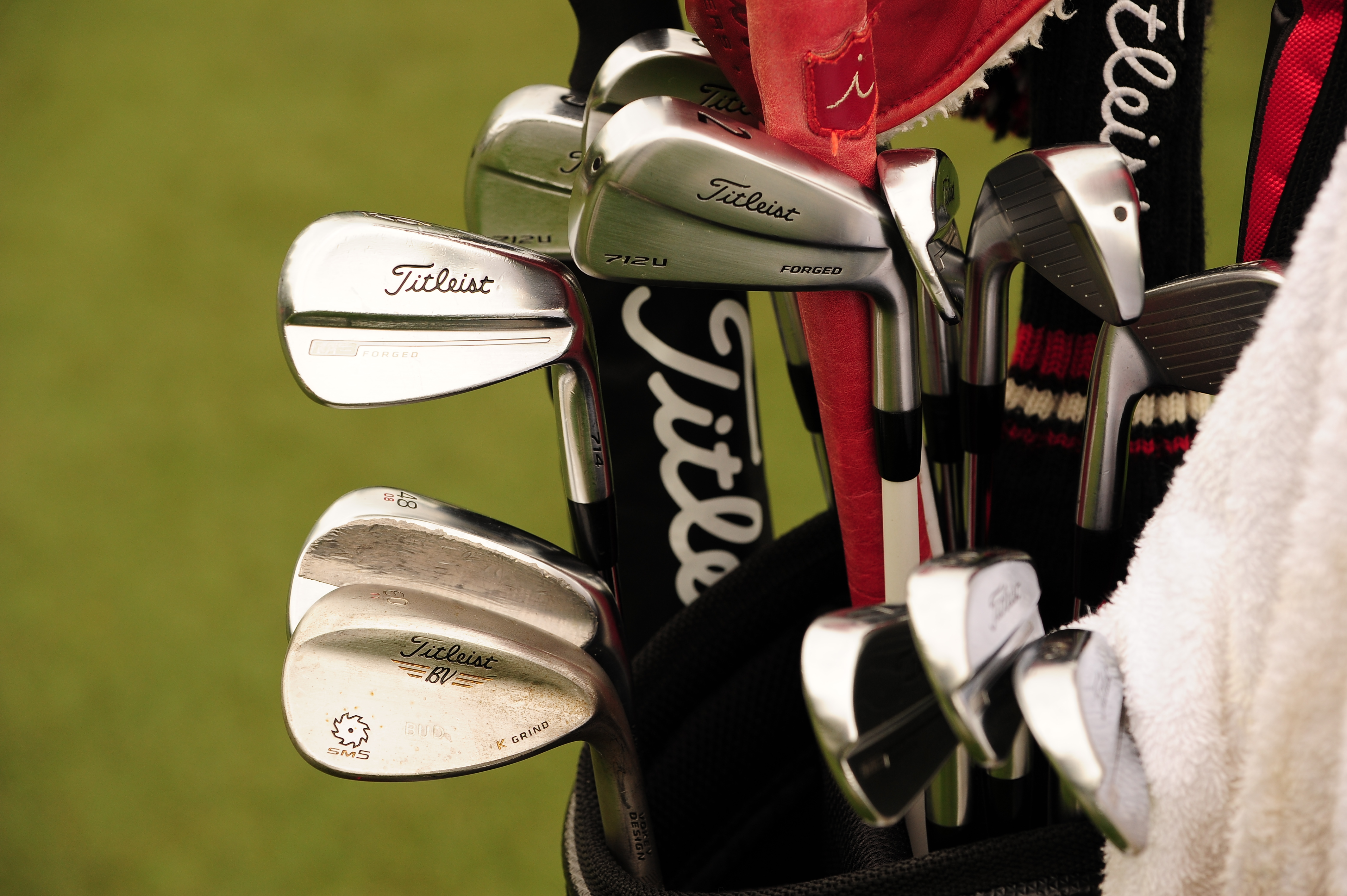 Another Titleist guy, Bud Cauley plays MB Forged irons, Vokey SM5 K grind wedges, and a 712U driving iron.