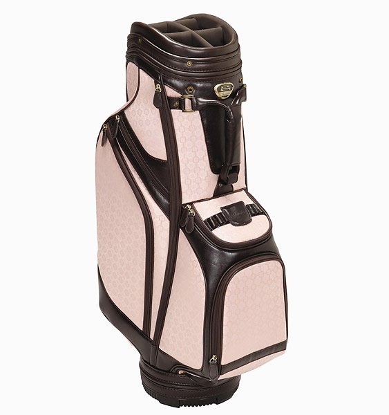 Burton Siena Cart Bag, $280; burtongolf.com                       Boasting a 10-inch, six-way padded top with full-length dividers and eight pockets (including a valuables pocket and an oversized ball pocket), the Siena weighs in at 7.5 lbs. Composed of premium material and hardware, the bag also includes a matching rain hood and four matching headcovers.