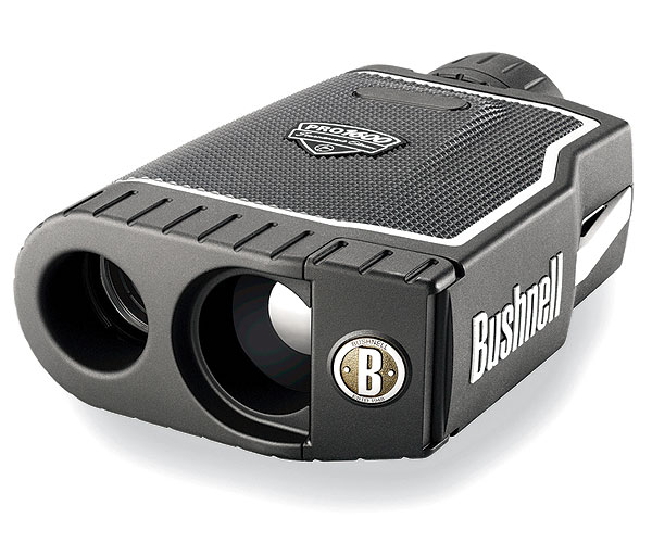 "($399) easily fits into your hand and allows you to check distances from up to 400 yards away. The Slope feature takes uphill and downhill angles into consideration to provide you with a ""playing distance,"" although that feature is not legal for use in tournament play.                      More information at bushnellgolf.com"
